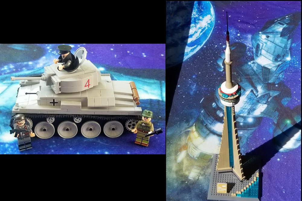 Brick Block Army tank and Dragon Blok CN Tower