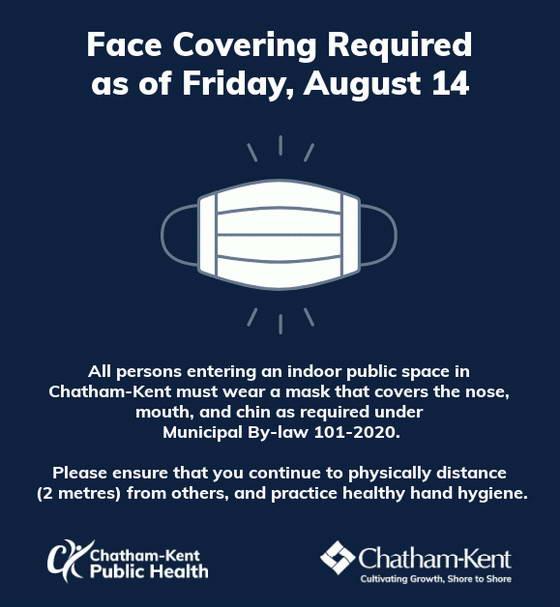 Chatham-Kent mask bylaw notification