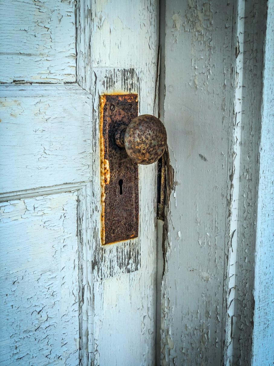 gallery rusty doorknob