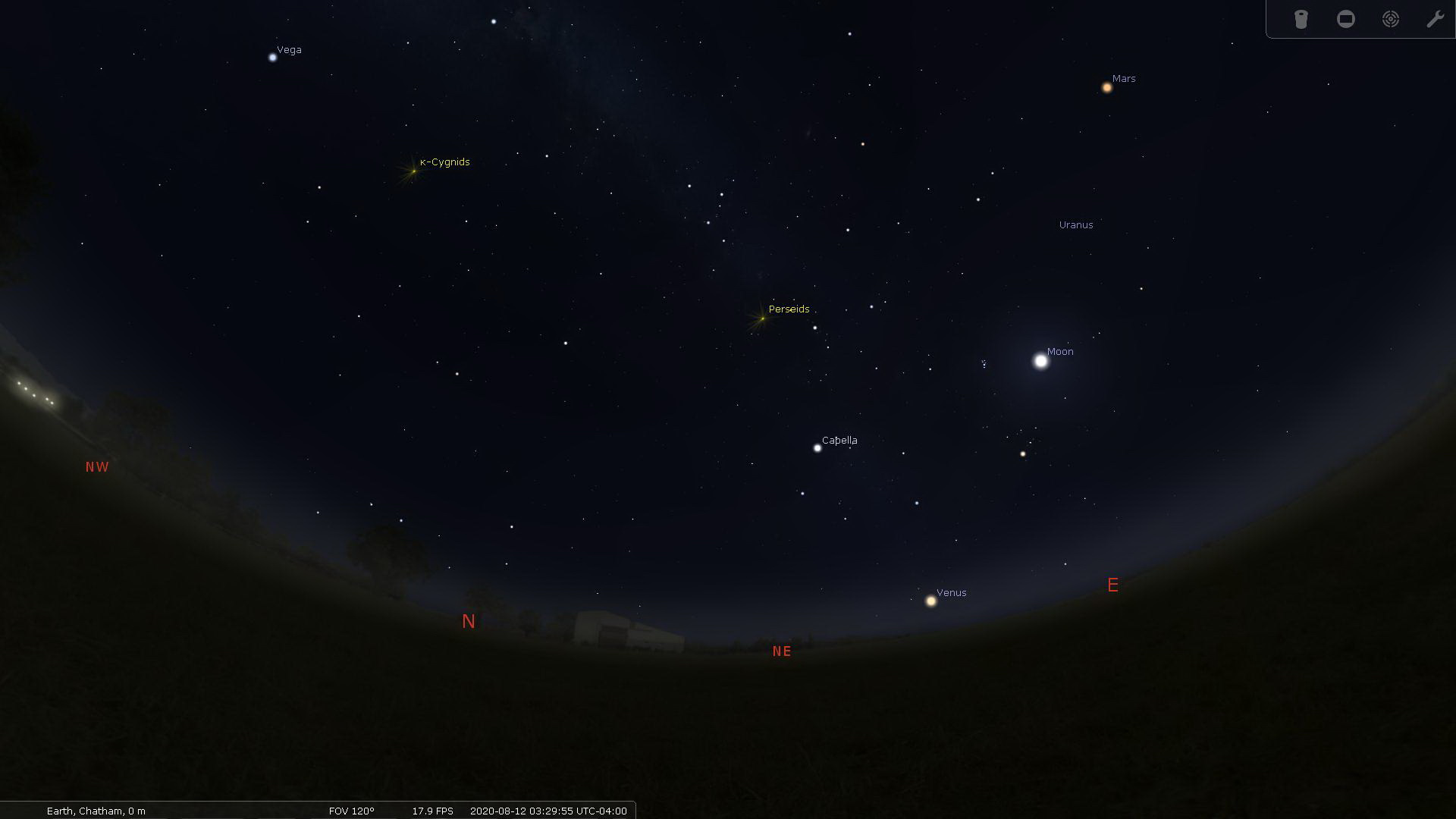 Perseid Meteor Shower radiant