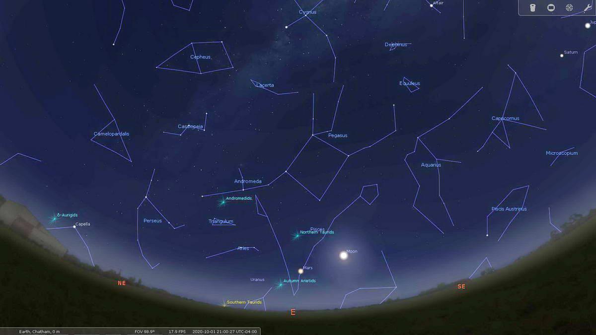 October Night Sky East