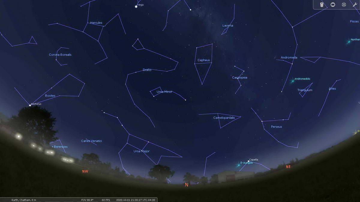 October 2020 North night sky