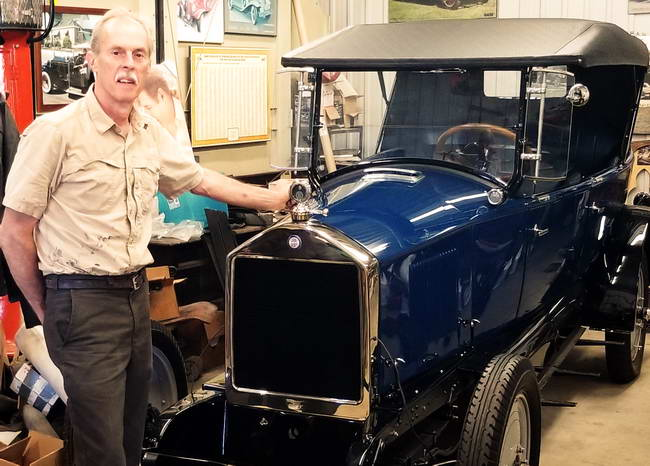 Stan Uher with the Model 25 Sport Touring Gray-Dort