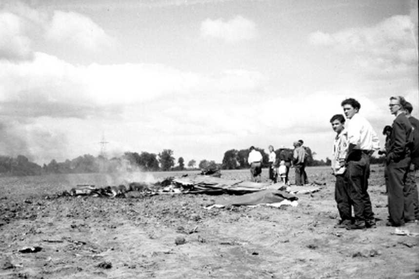 Wreckage of Lt. Howard's Plane