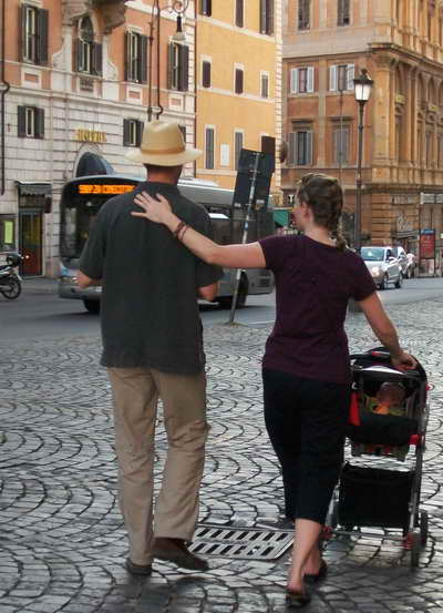 Chad and Susie on an Italian Street