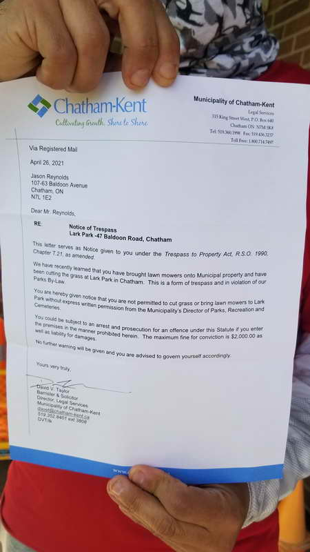 Chatham-Kent Threating Letter